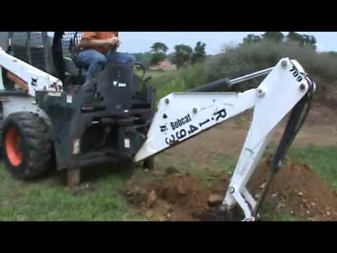 Bobcat 709 Backhoe Attachment For Skid Steer Loader Track