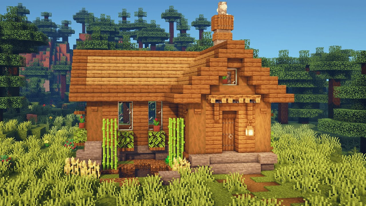 Minecraft: How to Build a Simple Spruce Starter House ...