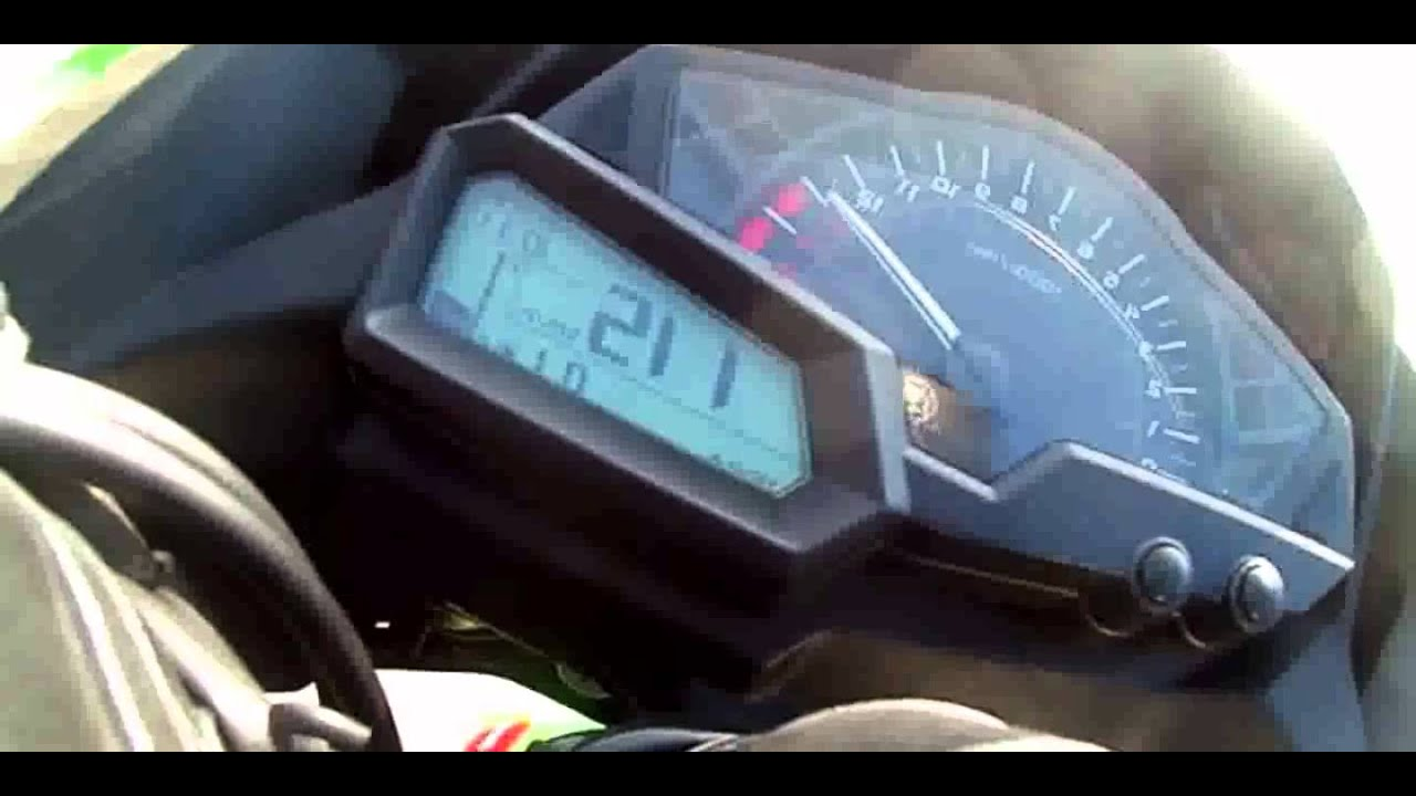 2013 Kawasaki Ninja 300 Top Speed - YouTube