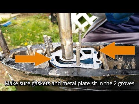 Installing lower unit water pump | Mercury Outboard 150 hp | Impeller Kit | By Farhad