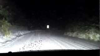 神奈川県道75号湯河原箱根仙石原線 箱根 大観山 雪 2013年2月某日