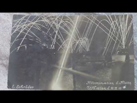 FIRST WORLD WAR,WHITEHAVEN HARBOUR CUMBERLAND ARMISTICE DISPLAY,NOVEMBER 1918