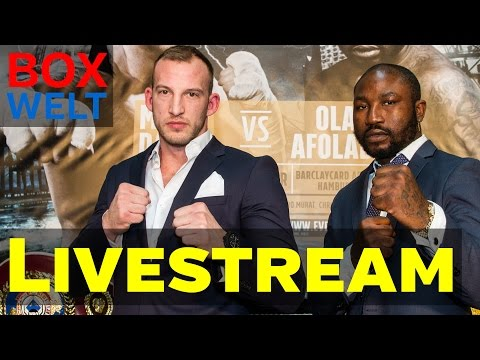 Daser vs Afolabi  - FIRST PRESS CONFERENCE - 23.03.2017 - Europa Passage Hamburg