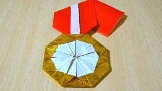 Cara membuat Medali emas. Origami. Seni melipat kertas.