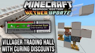 Villager Trading Hall With Curing Discounts Minecraft Bedrock Tutorial 1 16 Nether Update