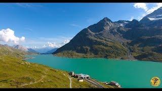 4K Switzerland / Graubünden / Passo del Bernina /  Poschiavo / Berninapass / Drone / DJI