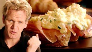 Christmas Scrambled Eggs and Smoked Salmon with Gordon Ramsay