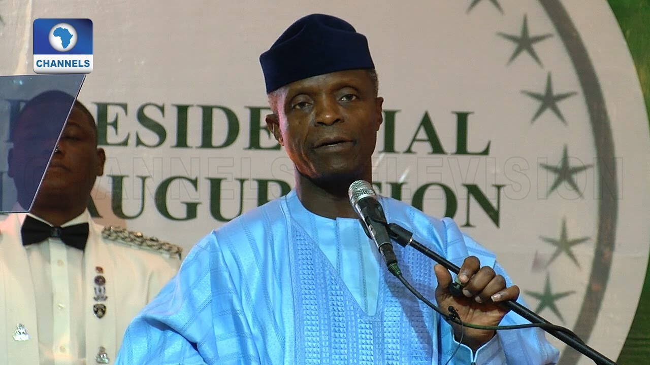 Download Pre-Inauguration: I Thanked Saraki For Not Doing Anything Funny - Osinbajo