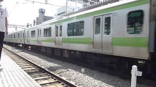 山手線E231系500番台トウ520編成 新津へ配給 EF64-1032牽引