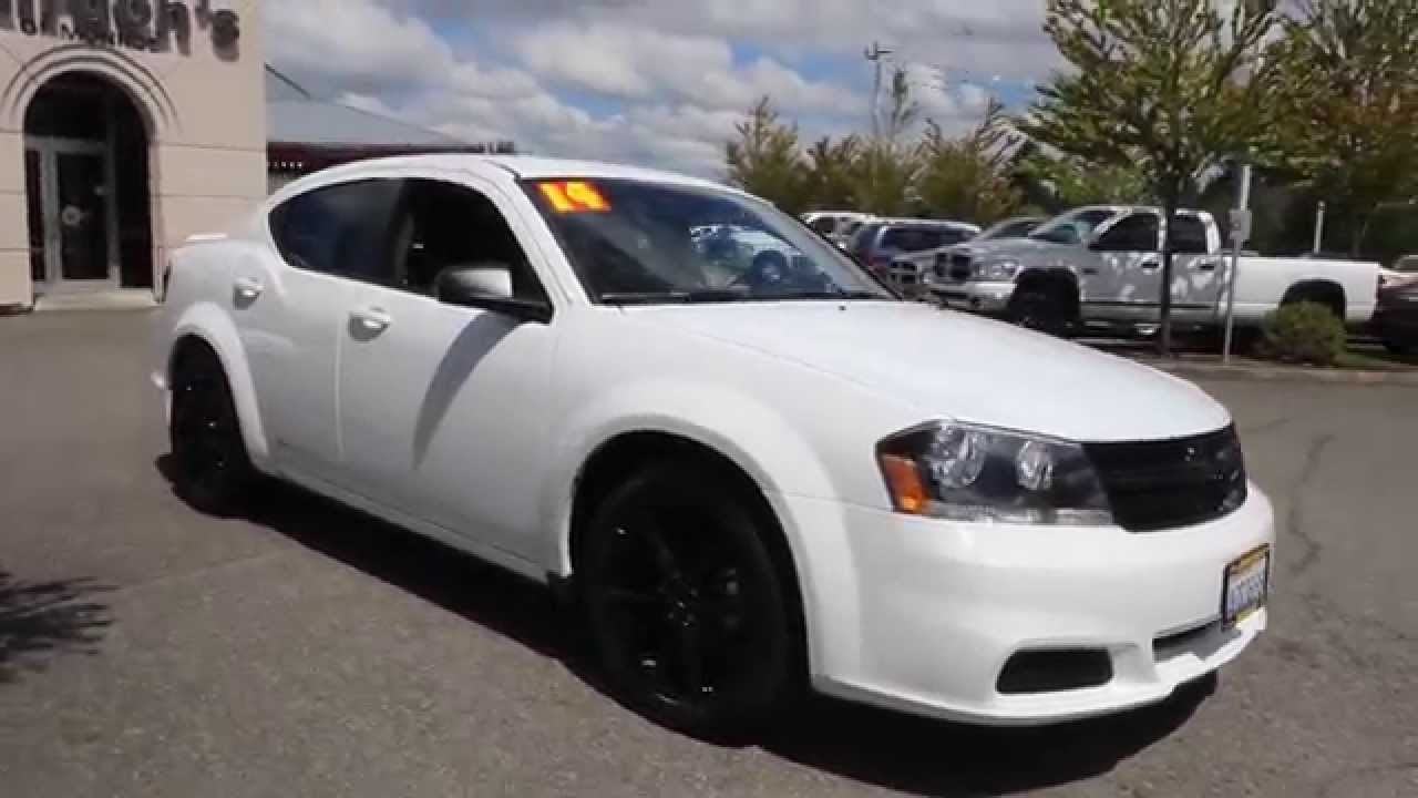 2014 Dodge Avenger Se Blacktop White En133911