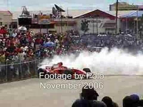 Ferrari Demonstration in Barbados