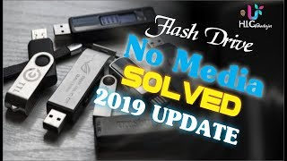 No Media Flash Drive Solved 2019 Update Youtube