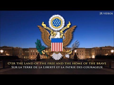 Hymne national des États Unis (EN/FR paroles) - USA Anthem (French)