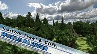 World Painter Tutorial: How To Download Custom Trees & Create Cliffs !