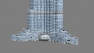 Dubai Burj Khalifa 3D Model Texture