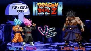 Hyper DBZ Mods: SSJ Blue Goku & Rose Black (Z2i) VS LSSJ Broly (EB)