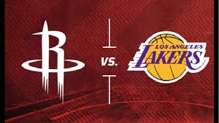 NBA Live Stream: Houston Rockets Vs Los Angeles Lakers (Live Reaction & Play By Play)