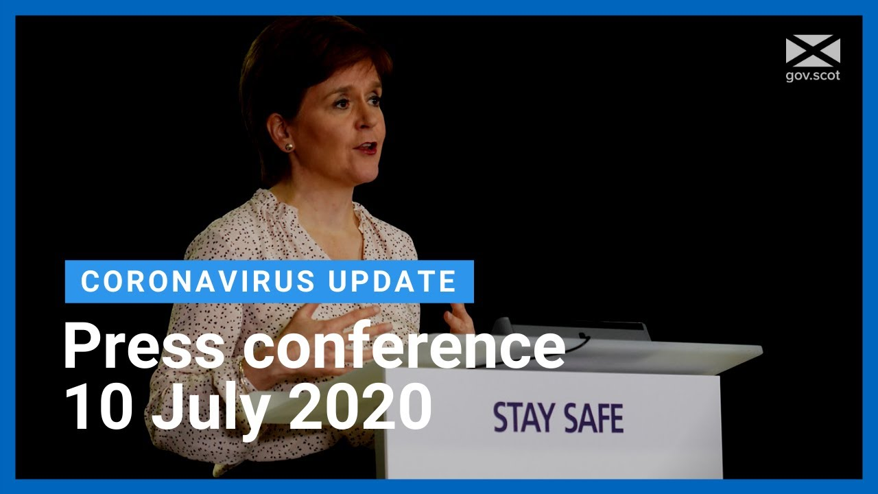 Coronavirus update from the First Minister: 10 July 2020