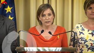 Declaración institucional de Carme Forcadell tras la aplicación del 155 (completo)