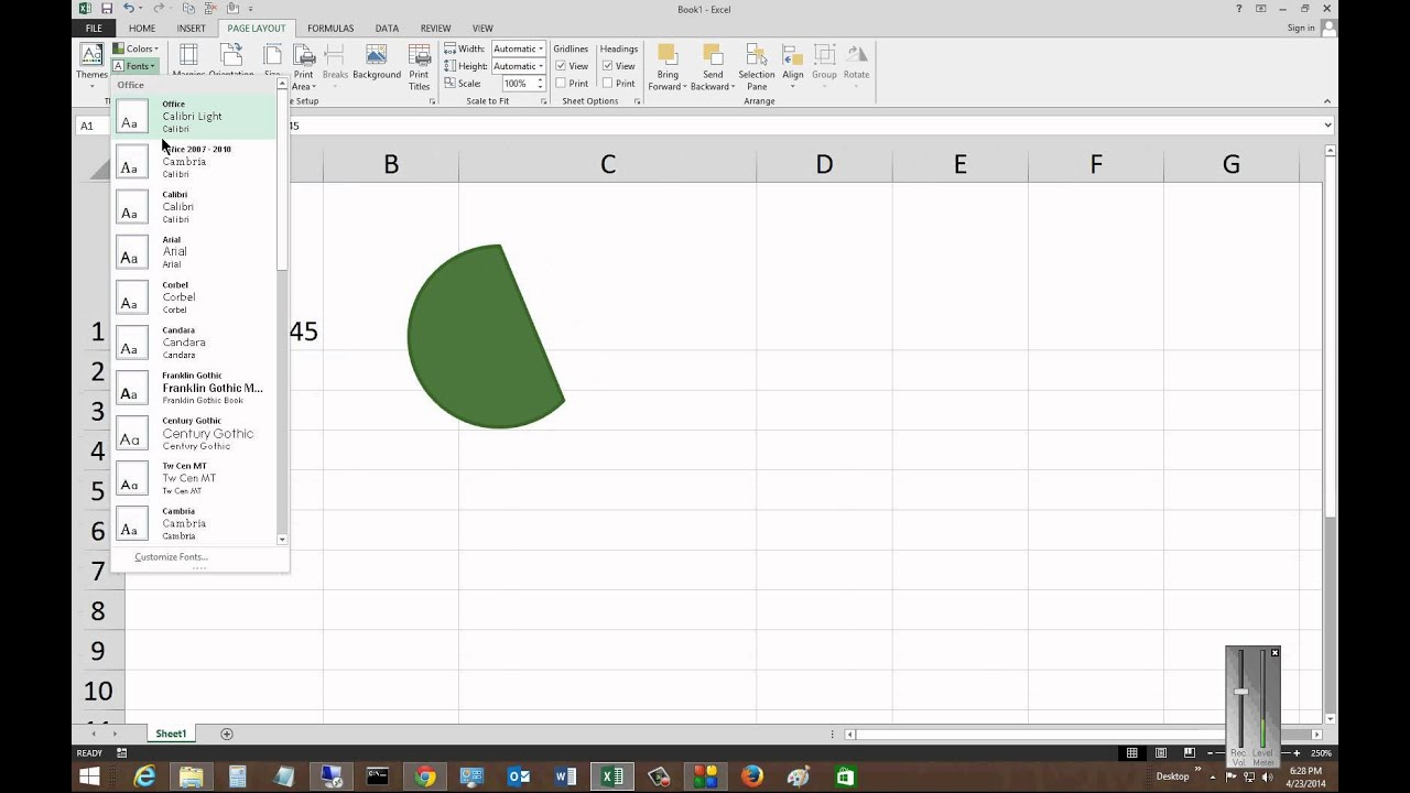 how to change theme in excel