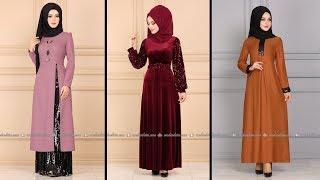 Modaselvim 2020 Kışlık Tesettür Elbise Modelleri 20-34   2020 Kışlık Modaselvim Elbise Modelleri