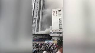 福安市闽东医院突发火灾 病人紧急撤离