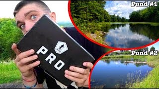 1 HOUR POND HOPPING MYSTERY BOX FISHING CHALLENGE! *epic*
