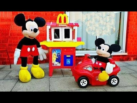 McDonalds Drive Thru * Hungry Baby Mickey Mouse * Pretend Play Food