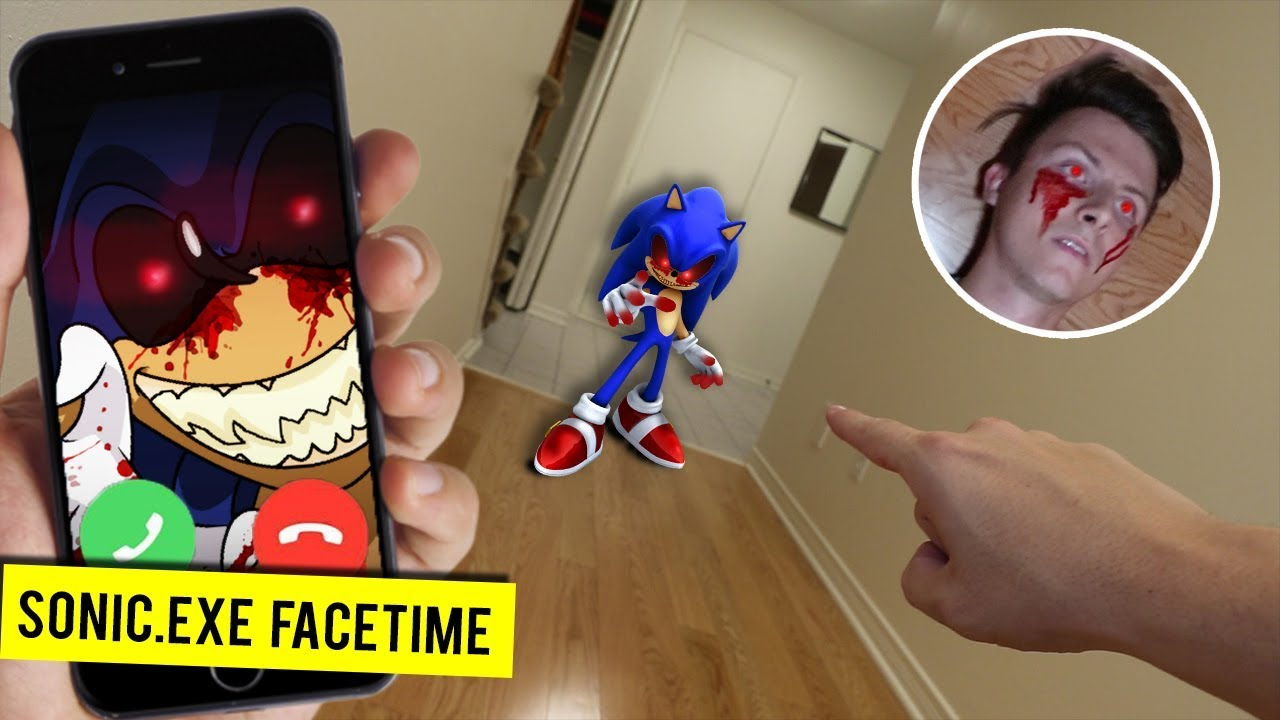 Calling Sonic Exe On Facetime At 3 Am Scratched His Face Youtube