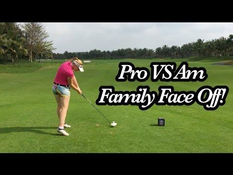 FAMILY FACE OFF! | Pro VS Am West Coast Golf Club | Part 1