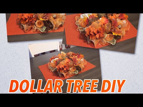 DIY Dollar Tree Fall Centerpiece | Fall Crafts