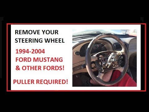 How To Remove A Steering Wheel Ford Mustang And Other Cars Youtube