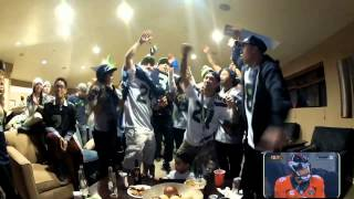 Repeat youtube video 12th Man Reactions during Seattle Seahawks 2014 Super Bowl Vs Denver Broncos