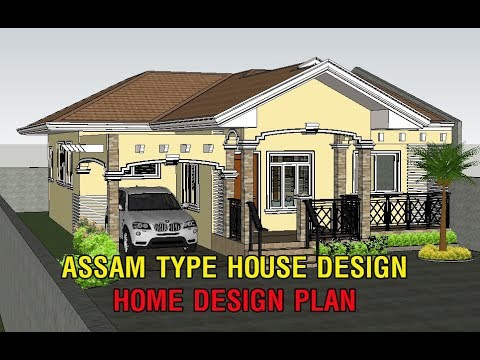 Assam Type House Design Home Design Plan With 3 Bedroom Youtube