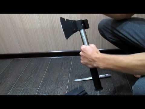 Обзор китайского туристического набора для выживания 4 в 1 нож, пила, топор, лопата