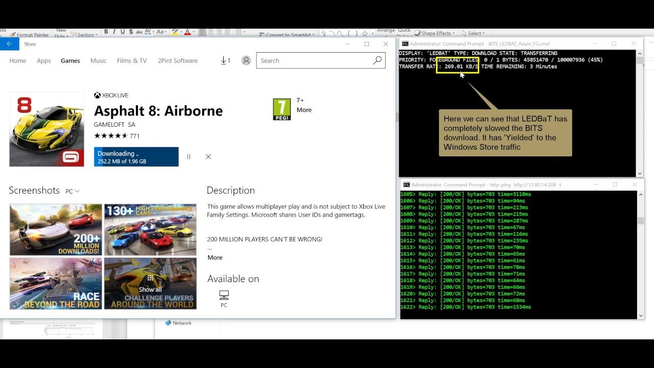 Bandwidth Management in Windows using Microsoft LEDBAT++