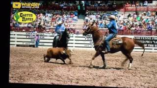 2016 cheyenne frontier days team roping saturday perf