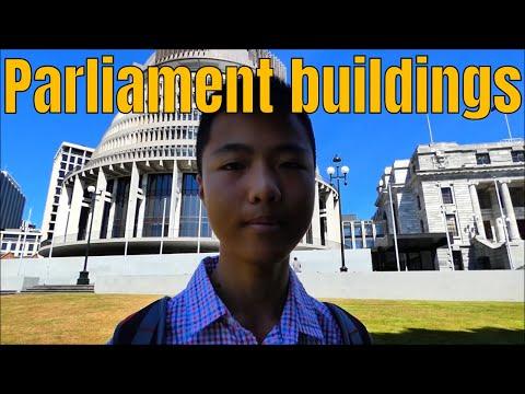 Beehive & Parliament Buildings, Wellington, New Zealand