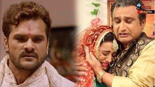 खेसारी के दोस्त के गले मिलकर रोई अक्षरा सिंह… Akshara Singh Emotional