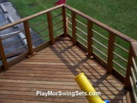 Youngster's Yacht Wooden Swingset From Play Mor Swing Sets