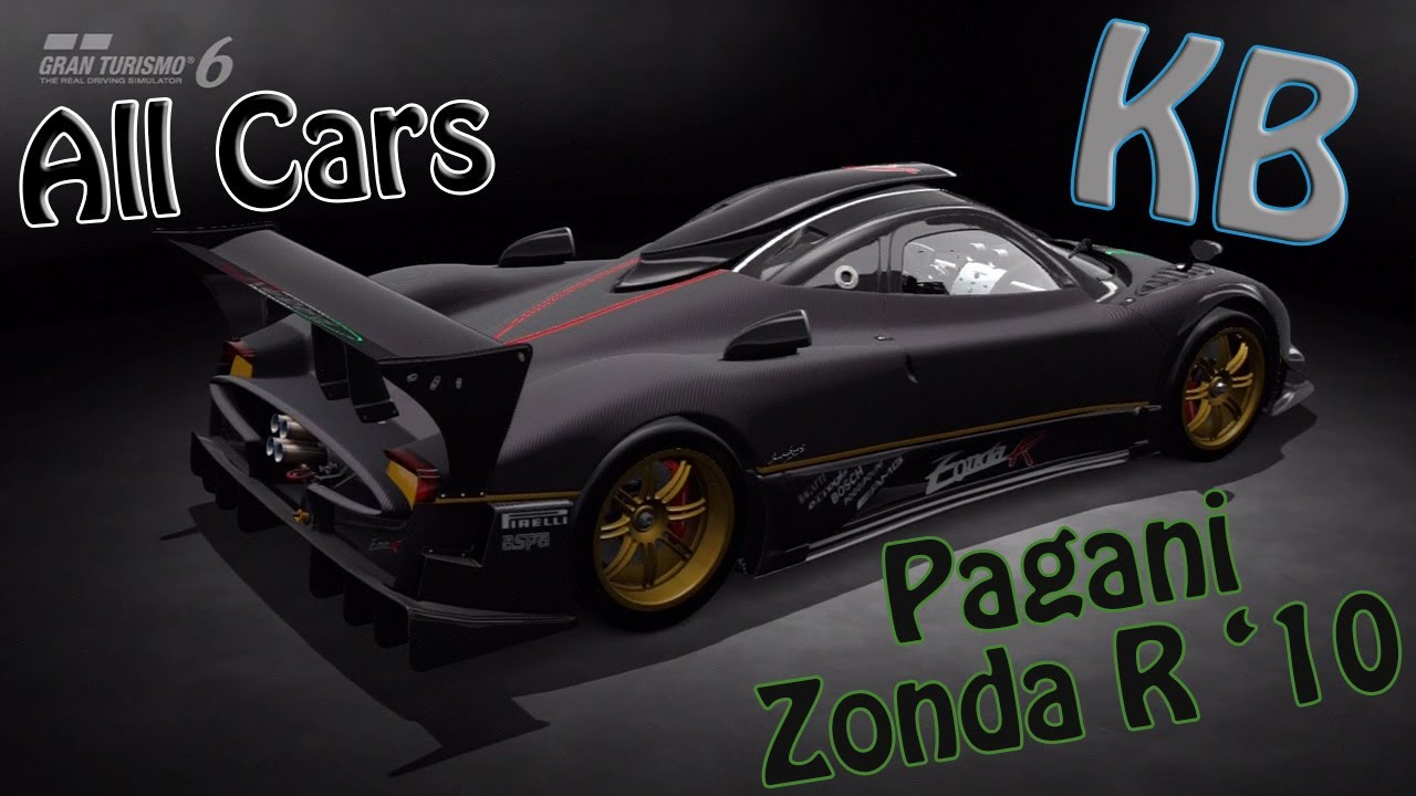 Pagani Zonda R '10 - Top Speed and Test GT6 - YouTube