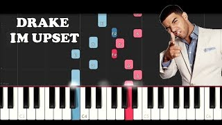 Drake - Im Upset (EASY Piano Tutorial Instrumental)