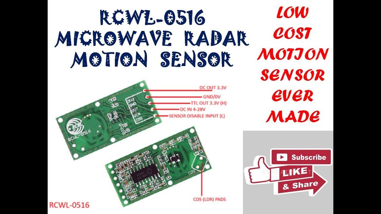 RCWL-0516 Microwave Radar Sensor Module Human Body Induction Switch