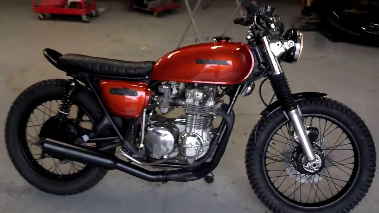 Honda CB550F Brat Tracker Cafe