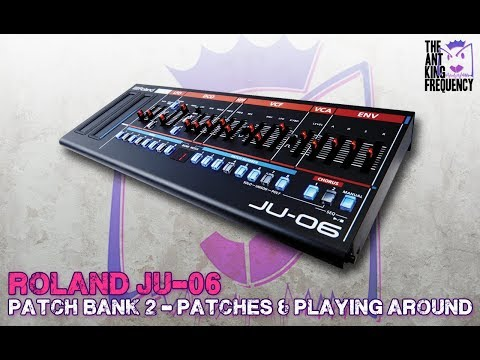 Roland Boutique JU-06 Playing around with Bank 2 presets