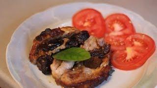 """Запеченное мясо  """"Книжка"""".запеченное мясо с черносливом"""