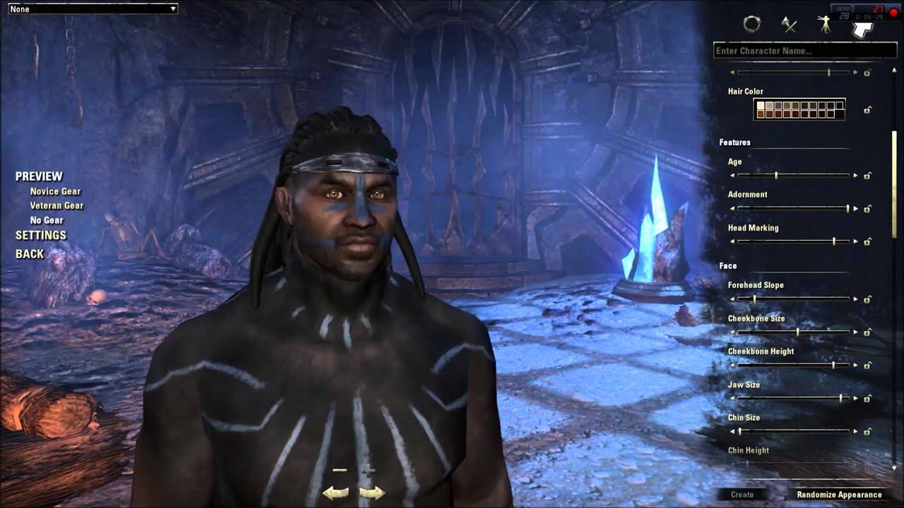 Elder Scrolls Online Character Creation - Redguard (In ... Play Elder Scrolls Redguard Online