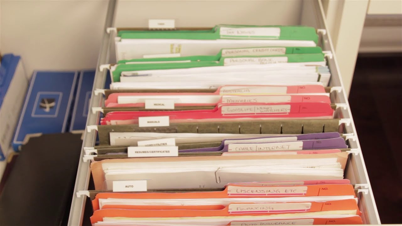 How To Organize Your Files Simple Home Filing System