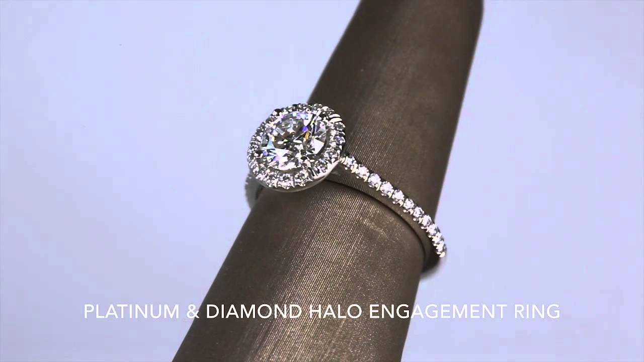 three gold diamond row halo ring white products long rings s mark jewelers patterson engagement