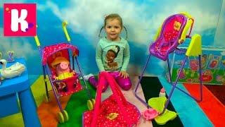 Набор Свинка Пеппа /коляска и качелька /Обзор игрушек